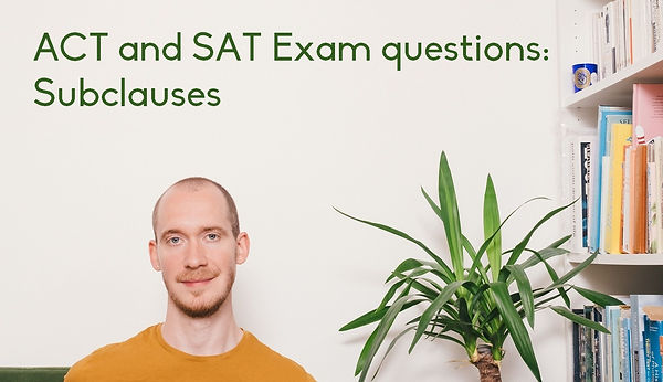 Online SAT tutor Adrian May gives an SAT English lesson. Online ACT tutor Adrian May helps you through some key ACT English punctuation questions.