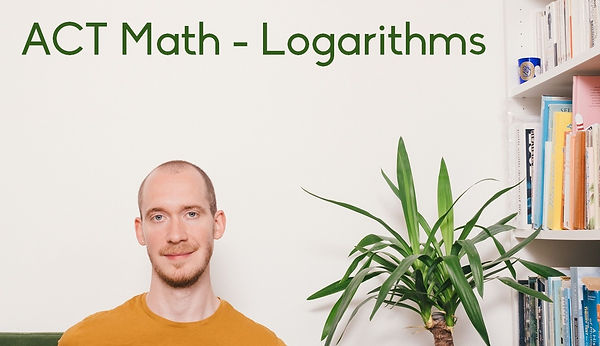 Online ACT tutor Adrian May talks you through logarithms. ACT Math tutor Adrian May on logs in London, Glasgow and online.