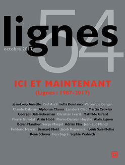 Lignes volume 54 cover, featuring an article by independent researcher and SAT and ACT tutor Adrian May