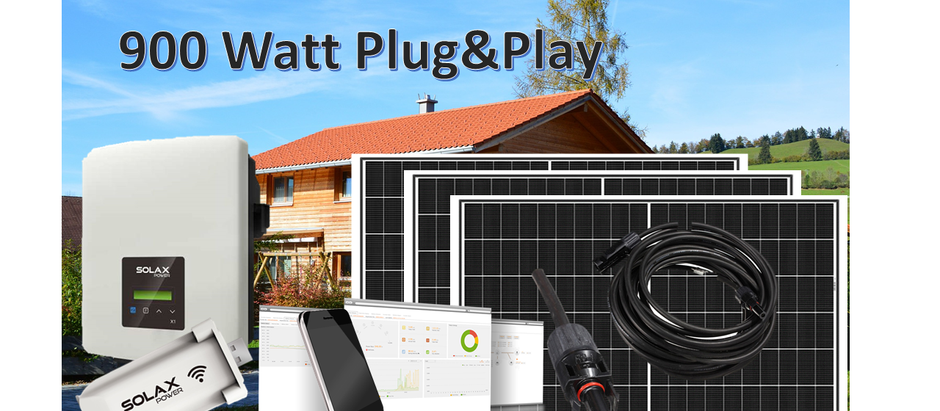Smart Solar mit 900 Watt Solaranlage Plug & Play