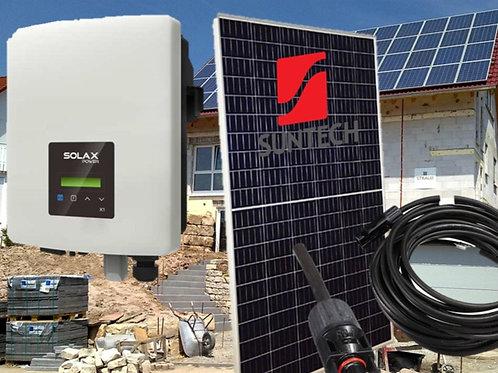 Kleine Solaranlage mit Wechselrichter und 6 x 330W Solarpanels