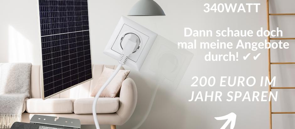 Mini Solaranlagen für Zuhause