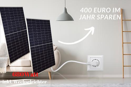 Mini-Solaranlage | 680W | Anschluss