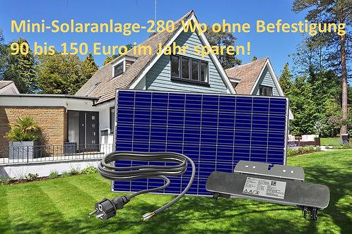 Kleine Mini Solaranlage 280Watt Mono