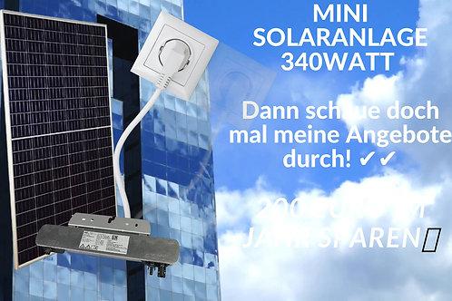 Kleine Mini Solaranlage 340Watt Mono