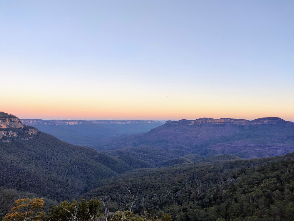 Sunset in the Blue Mountains