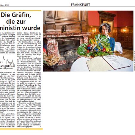 Die Gräfin, die zur Feministin wurde FNP 13.03.2020