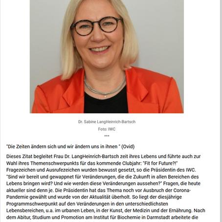 Der International Women´s Club of Frankfurt (IWC) hat eine neue Präsidentin, Frankfurt live 06.07.20