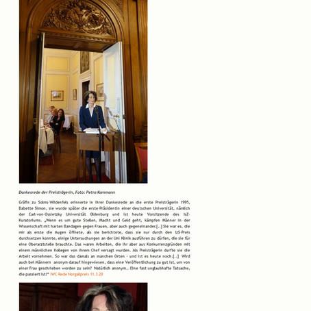 Norgall-Preis an Dr. Ingrid Gräfin zu Solms-Wildenfels, 16.03.2020, Feuilleton Frankfurt