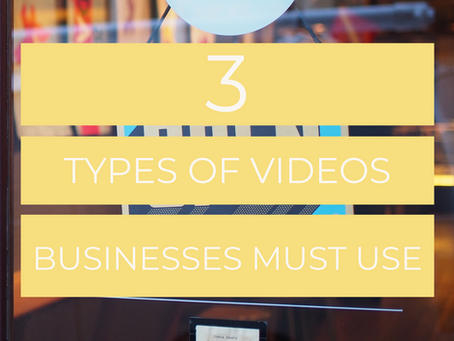 Three Types of Videos You Must Use In Your Business....