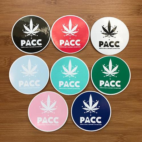 PACC Leaf Logo Stickers
