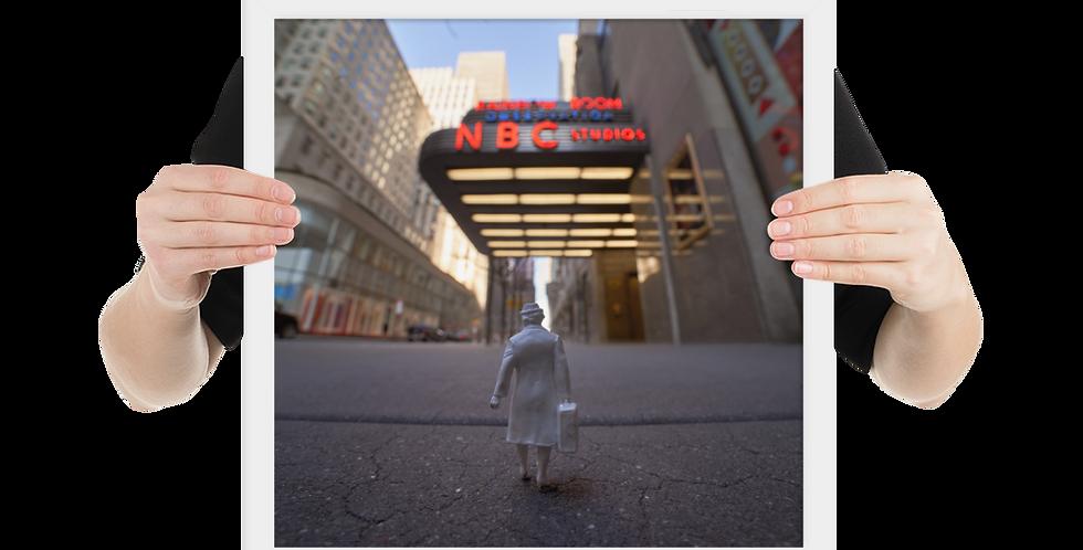 Elsa Visits NBC... (framed)