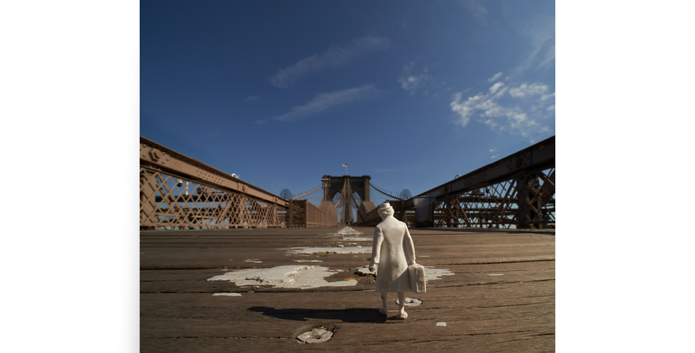 Elsa Alone on the Brooklyn Bridge...