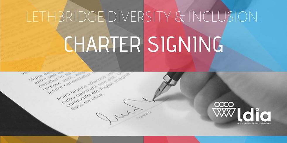 Lethbridge Diversity & Inclusion Charter Signing