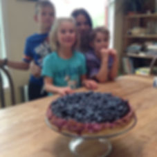 Grandchildren eagerly awaiting dessert