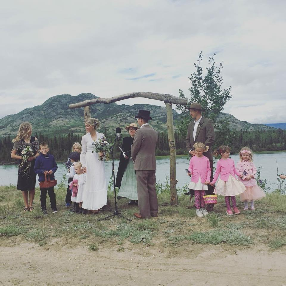 Wedding on the Takhini River