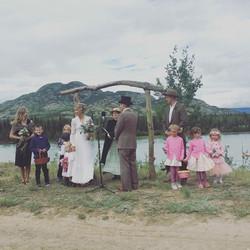 Wedding on the Takhini River