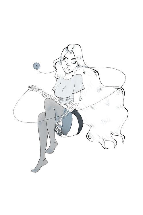 Ghost Yo-yo Sticker
