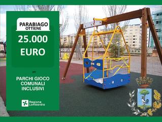 Parabiago ottiene 25.000€ per i parchi gioco inclusivi