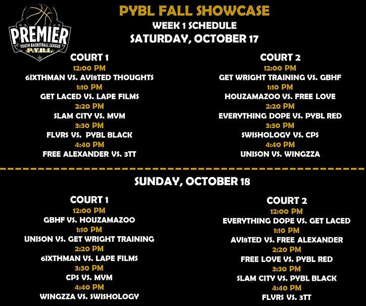 PYBL Fall Showcase Schedule Week 1.jpg
