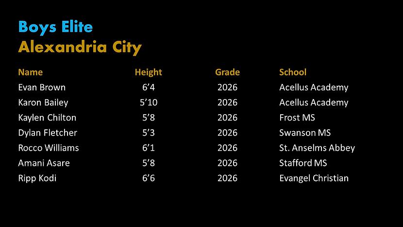 Alexandria PYBL Elite Roster.png