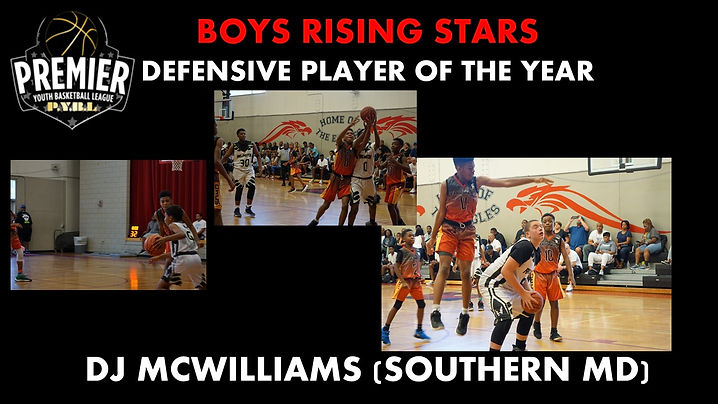 Boys RS Defensive Player of the Year DJ