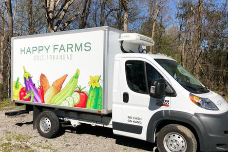 Box Truck Decal   Happy Farms