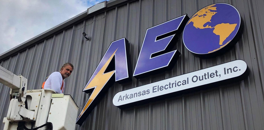 Commercial Business Sign   Arkansas Electrical Outlet