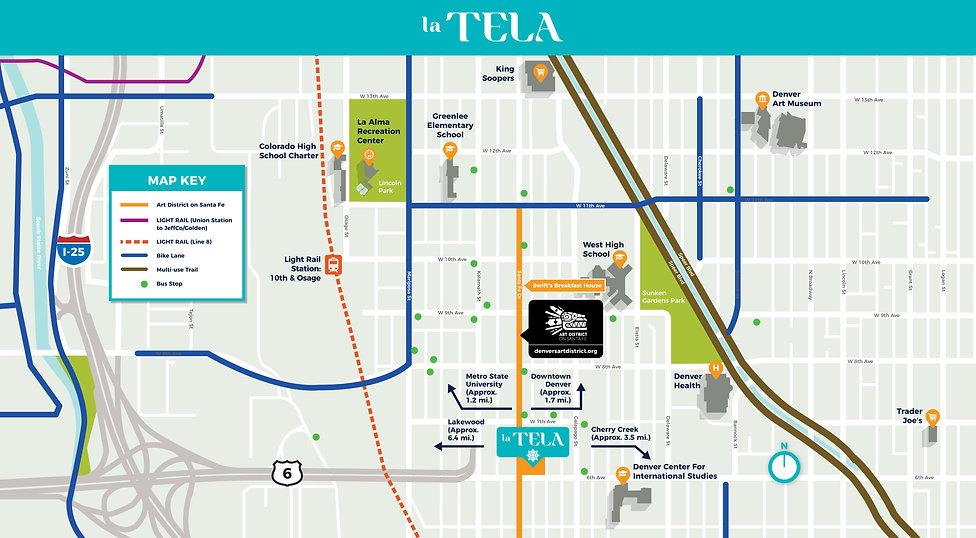 La Tela Neighborhood Vicinity Map