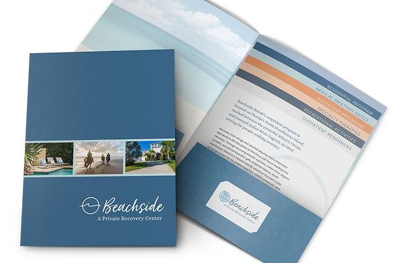 Presentation Folder + Stepped Inserts   Beachside Recovery Center