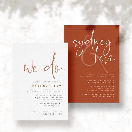 Fall Wedding Invitations