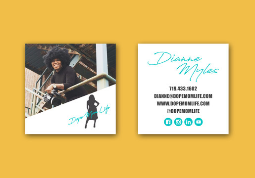 Square Business Cards   Dope Mom Life