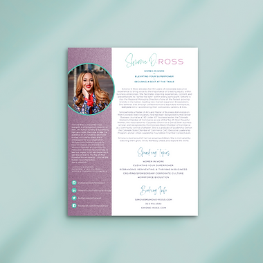 Speaker One Sheet | Simone D. Ross