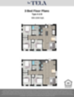 La Tela | 3 Bed Floor Plans A & B