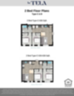 La Tela | 2 Bed Floor Plans C & D