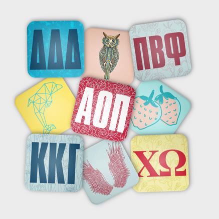 Greek Life Coaster Designs