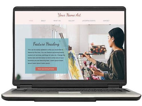 The Artist Pre-Made Website