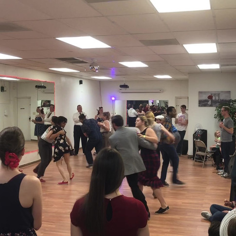 Lindy Hop Contest in the Star Dance studio