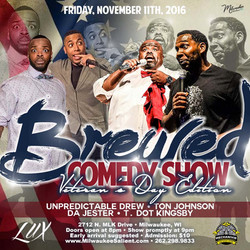 Brewed Comedy flyer