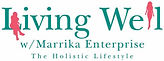 living well logo - coral and turqoise cr