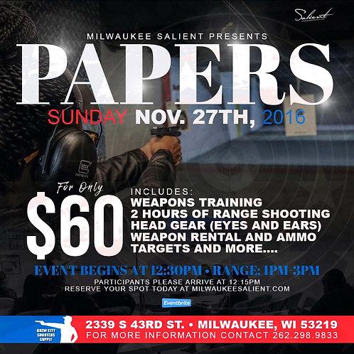 Papers Gun Range Reservation