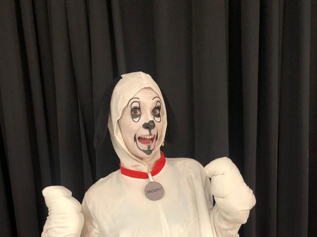 Sarah as 'Snoopy'