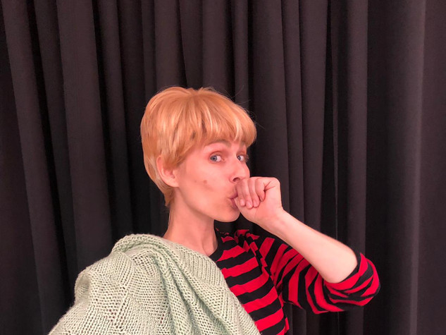 Sarah as 'Linus'