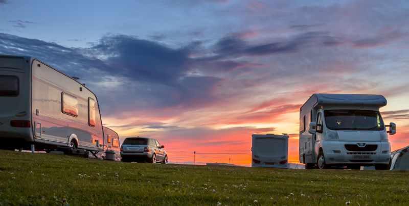 Caravan parked up