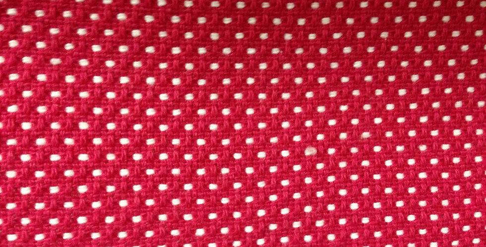 Raspberry - White Polka Dot