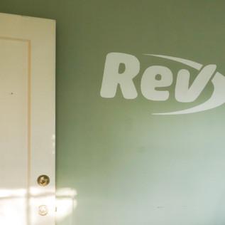 REV Logo Mural