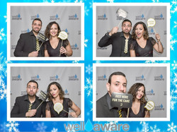 Custom Layout for Photobooth at Well Aware's Winter Gala in Austin, TX