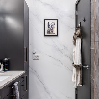 Faux Marble Bathroom