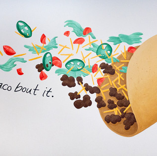 'Let's Taco Bout It' Mural