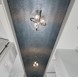Arched 2-tone Metallic Celing